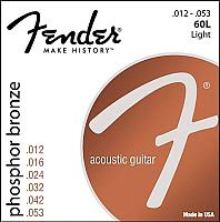 Струны для акустической гитары Fender 60L Phos Bronze Ball 12-53 -