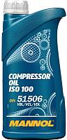 Индустриальное масло Mannol Compressor Oil ISO 100 / MN2902-1 (1л) -