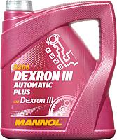 Трансмиссионное масло Mannol ATF Dexron III / MN8206-4 (4л) -
