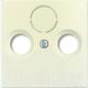 Лицевая панель для розетки ABB Basic 55 1724-0-4284 (слоновая кость) -