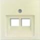 Лицевая панель для розетки ABB Basic 55 1753-0-0097 (слоновая кость) -