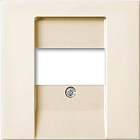 Лицевая панель для розетки ABB Basic 55 1724-0-4318 (шале-белый) -