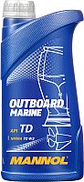 Моторное масло Mannol 2-Takt Outboard Marine API TD NMMA TC-W3 / MN7207-1 (1л) -