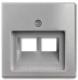 Лицевая панель для розетки ABB Basic 55 1753-0-0095-1 (алюминий) -