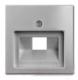 Лицевая панель для розетки ABB Basic 55 1753-0-0096-1 (алюминий) -