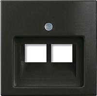 Лицевая панель для розетки ABB Basic 55 1753-0-0206 (шато-черный) -
