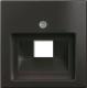 Лицевая панель для розетки ABB Basic 55 1753-0-0207 (шато-черный) -