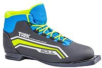 Ботинки для беговых лыж TREK Soul 6 NN75 (черный/лайм, р-р 38) -