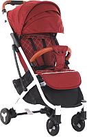 Детская прогулочная коляска Sundays Baby S600 Plus (белая база, темно-красный) -