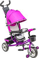 Детский велосипед с ручкой Sundays SN-4in1-TR-04 (темно-фиолетовый) -