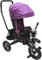Детский велосипед с ручкой Sundays SJ-06 (темно-пурпурный) -