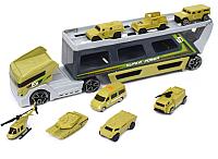 Автовоз игрушечный Haiyuanquan Трейлер военный P856-A -