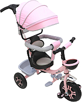 Детский велосипед с ручкой Sundays SJ-07 (светло-розовый) -