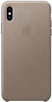 Чехол-накладка Apple Leather Case для iPhone XS Max Taupe / MRWR2 -