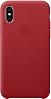Чехол-накладка Apple Leather Case для iPhone XS (PRODUCT)RED / MRWK2 -