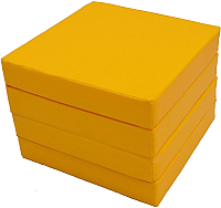 Гимнастический мат KMS sport Складной №11 1x1x0.1м (желтый) -