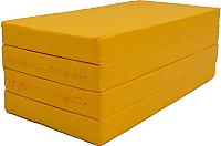 Гимнастический мат KMS sport Складной №5 1x2x0.1м (желтый) -