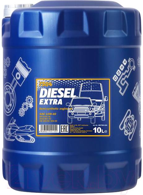 Купить Моторное масло Mannol, Diesel Extra 10W40 CH-4/SL / MN7504-10 (10л), Китай