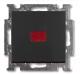 Выключатель ABB Basic 55 1012-0-2180 (шато-черный) -