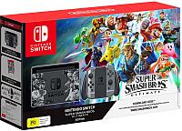 Игровая приставка Nintendo Switch + Super Smash Bros. Ultimate (серый) -
