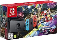 Игровая приставка Nintendo Switch + Mario Kart 8 Deluxe (красный/синий) -
