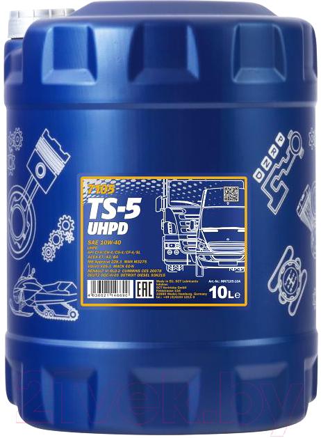 Купить Моторное масло Mannol, TS-5 10W40 CI-4/SL / MN7105-10 (10л), Китай