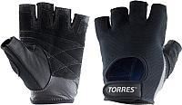Перчатки для пауэрлифтинга Torres PL6047S (S, черный) -