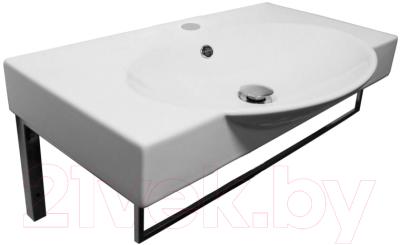 Умывальник Sanita Luxe Infinity 65 / INF65SLWB01KR (с полотенцедержателем)