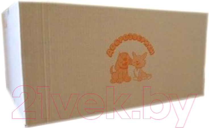 Купить Одноразовая пеленка для животных Доброзверики, 60x60 / П60х60/150, Россия