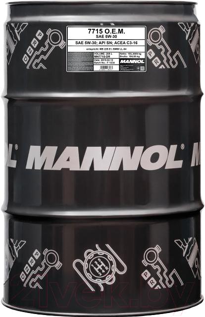 Купить Моторное масло Mannol, OEM 5W30 SN/SM/CF / MN7715-DR (208л), Китай