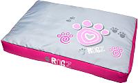 Лежанка для животных Rogz Spice Pod Flat / RFPMCA (M, Pink Paw) -