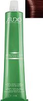 Крем-краска для волос Kapous Studio Professional с женьшенем и рисовыми протеинами 6.46 (темный медно-красный блонд) -