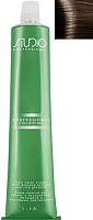 Крем-краска для волос Kapous Studio Professional с женьшенем и рисовыми протеинами 6.81 (темный коричнево-пепельный блонд) -