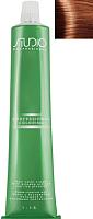Крем-краска для волос Kapous Studio Professional с женьшенем и рисовыми протеинами 7.44 (интенсивный медный блонд) -