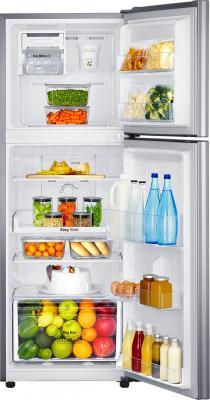 Холодильник с морозильником Samsung RT22HAR4DSA/WT - пример заполненного холодильника