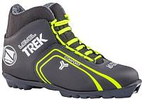 Ботинки для беговых лыж TREK Level 1 N (черный/лайм, р-р 36) -