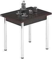 Обеденный стол Импэкс Leset Лиль 1Р (металл хром/венге) -