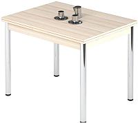 Обеденный стол Импэкс Leset Марсель 1Р (металл хром/дуб) -