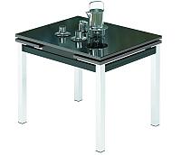 Обеденный стол Импэкс Leset Париж 2Р (металл хром/стекло черное) -