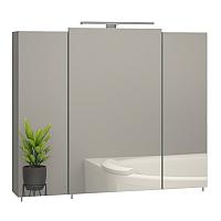 Шкаф с зеркалом для ванной Sanwerk Everest 80 3F / MV0000801 (с подсветкой) -