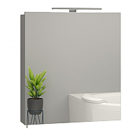 Шкаф с зеркалом для ванной Sanwerk Everest 60 1F / MV0000111 (с подсветкой) -
