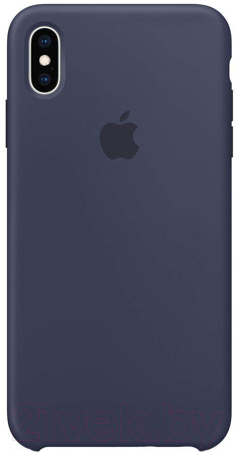 Купить Чехол-накладка Apple, Silicone Case для iPhone XS Max Midnight Blue / MRWG2, Китай, силикон