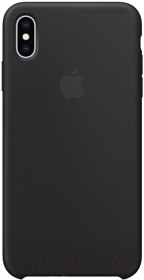 Купить Чехол-накладка Apple, Silicone Case для iPhone XS Max Black / MRWE2, Китай, силикон