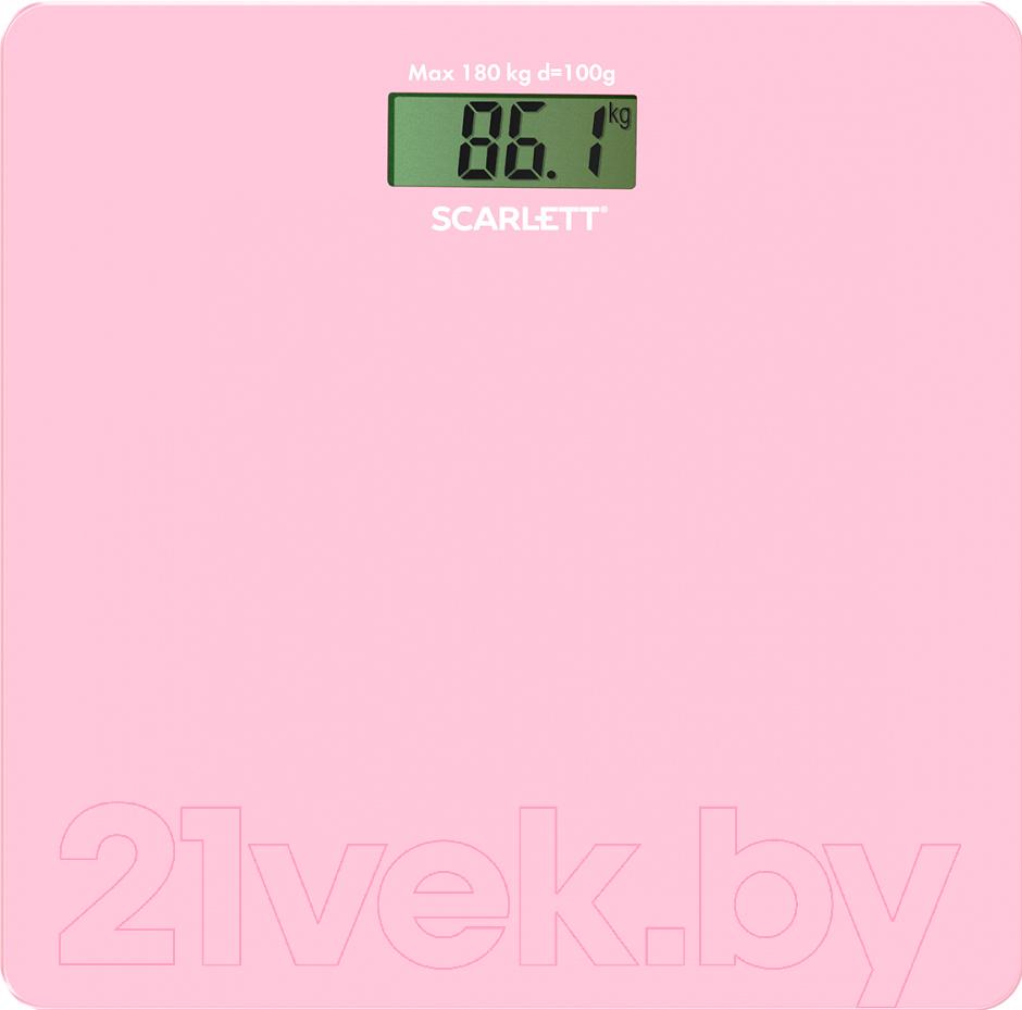 Купить Напольные весы электронные Scarlett, SC-BS33E041 (розовый), Китай