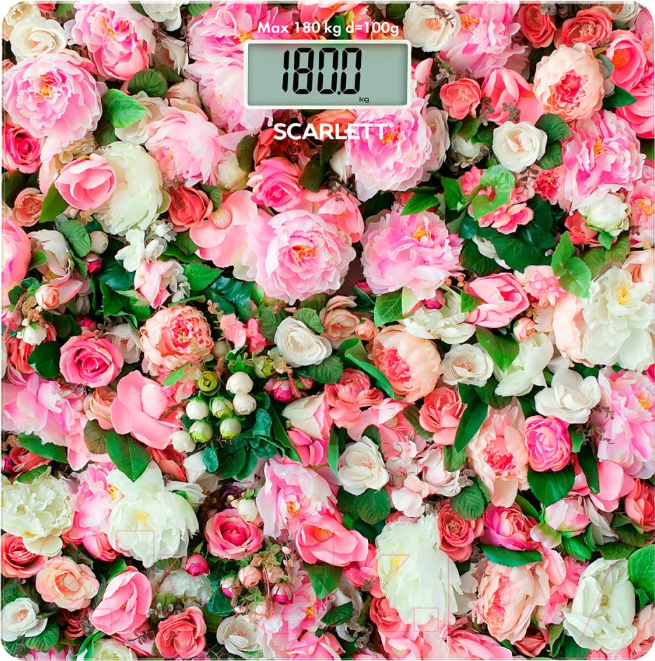 Купить Напольные весы электронные Scarlett, SC-BS33E094 (розы), Китай