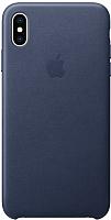 Чехол-накладка Apple Leather Case для iPhone XS Max Midnight Blue / MRWU2 -