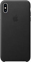 Чехол-накладка Apple Leather Case для iPhone XS Max Black / MRWT2 -