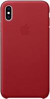 Чехол-накладка Apple Leather Case для iPhone XS Max (PRODUCT)RED / MRWQ2 -