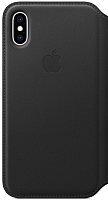 Чехол-книжка Apple Leather Folio для iPhone XS Black / MRWW2 -