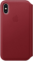 Чехол-книжка Apple Leather Folio для iPhone XS (PRODUCT)RED / MRWX2 -